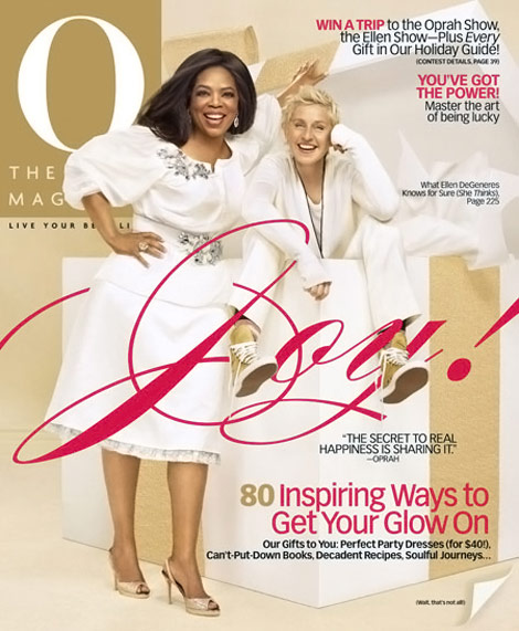 Ellen Oprah O Magazine Cover December 2009
