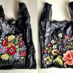 embroidered plastic bags Nicoletta de la Brown