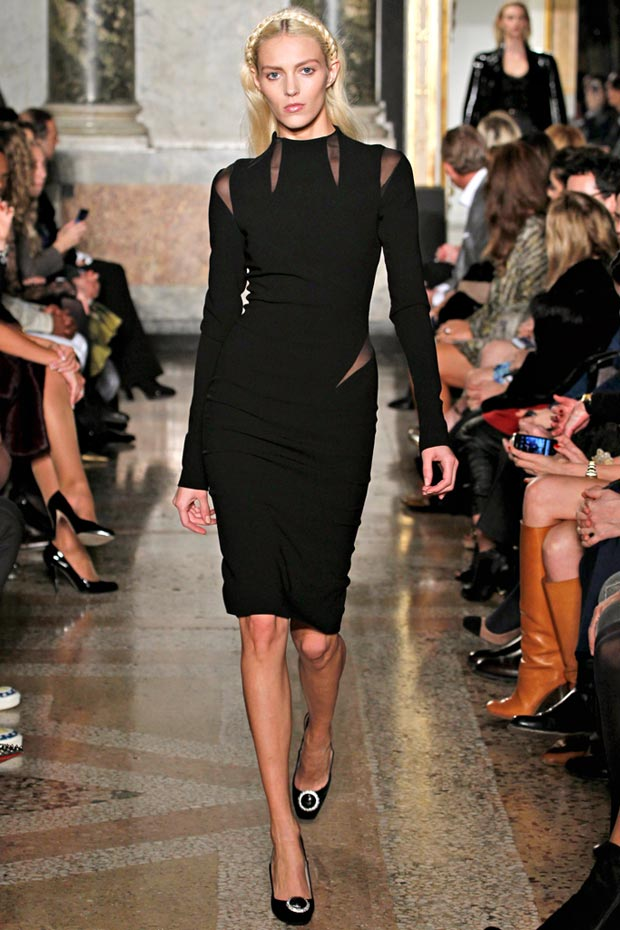 Emilio Pucci black cutout dress Fall 2012 Anja