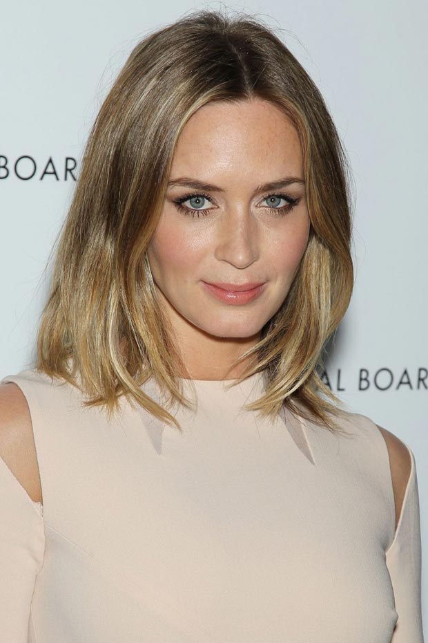 Gorgeous Emily Blunt In Pucci Cutout Beige Dress For NBR Awards