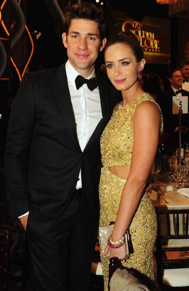 Emily Blunt's Michael Kors Golden Dress 2013 Golden Globes