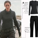 Emily Blunt Sicario Kate Macer black tactical outfit UA Propper pants