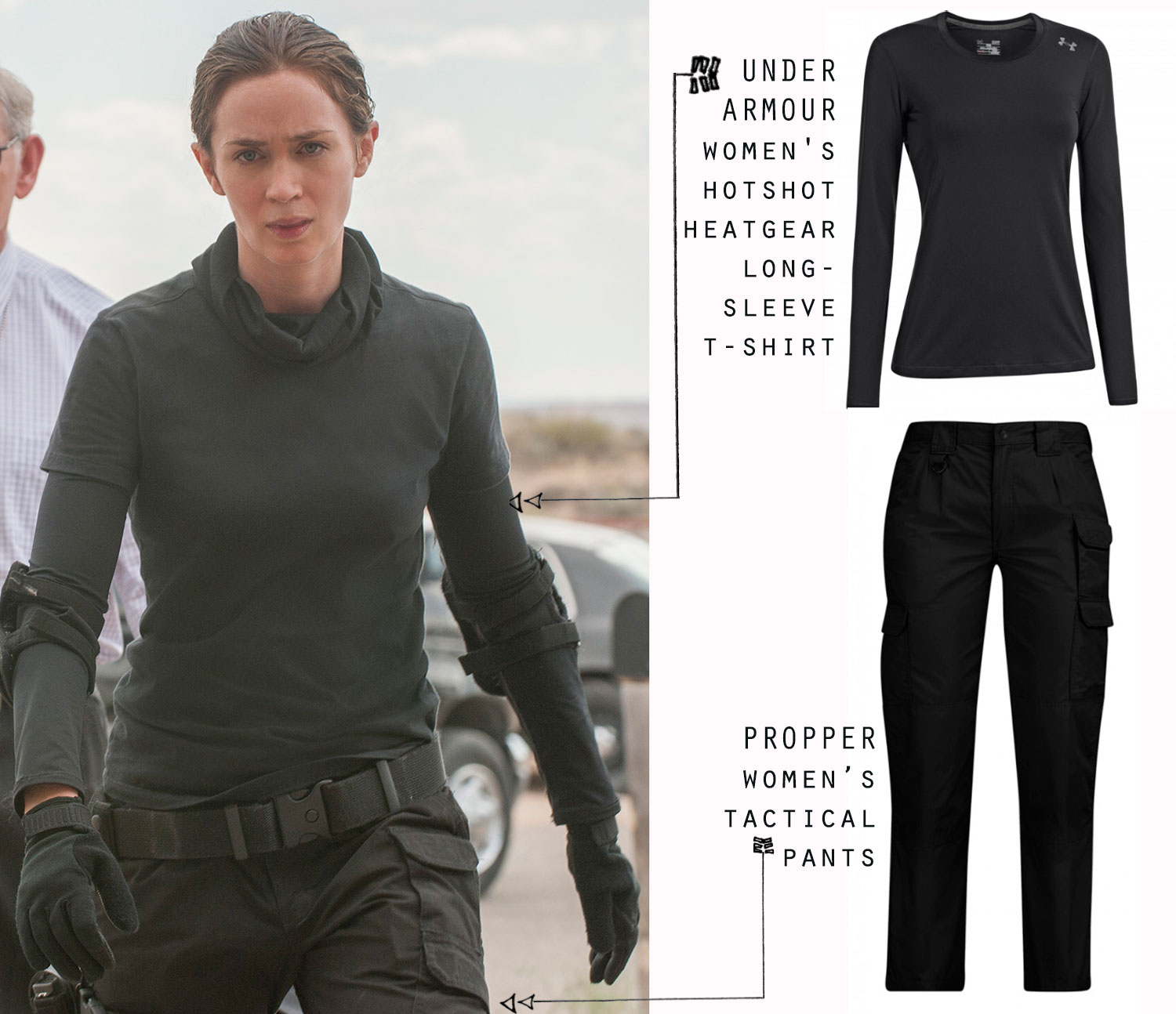 What They Wear In Sicario Emily Blunt Benicio Del Toro