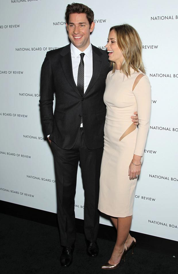  Emily Blunt with husband John Krasinski NBR Awards Gala