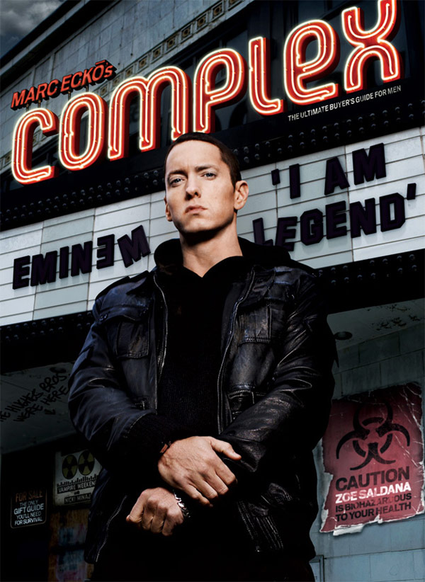 Eminem Complex December January 2010 cover