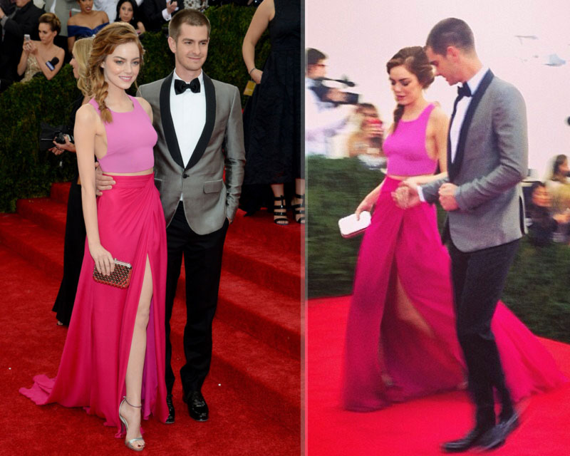 Emma Stone Andrew Garfield Red Carpet couple 2014 Met Gala