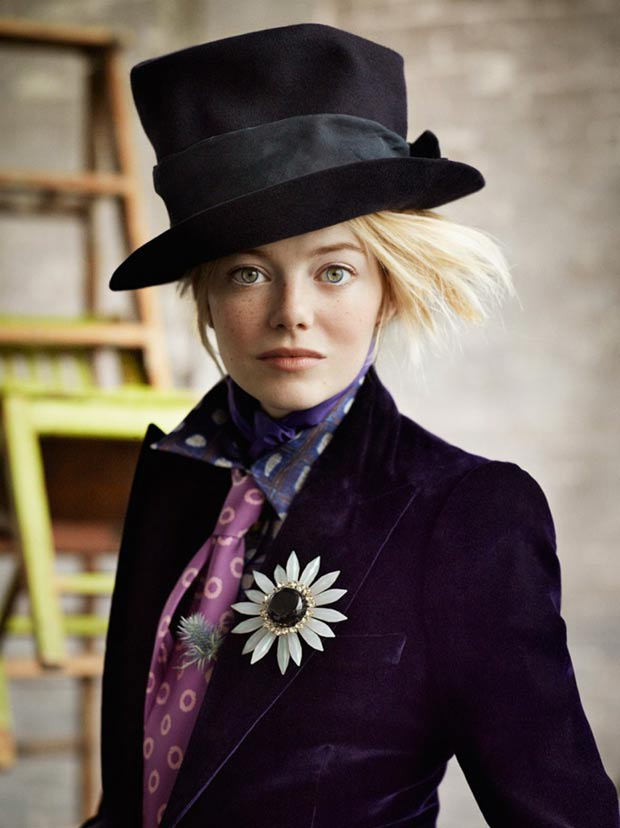 Emma Stone Vogue US by Mario Testino