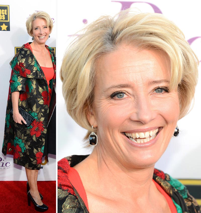 Emma Thompson dress 2014 Critics Choice Awards