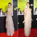 Emma Watson beige Armani dress malfunction Red Carpet