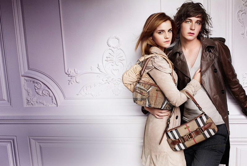 Emma Watson Burberry Spring Summer 2010 ad campaign 1