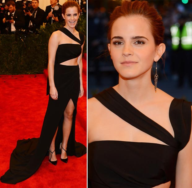 Emma Watson cutout black dress Prabal Gurung  2013 Met Gala