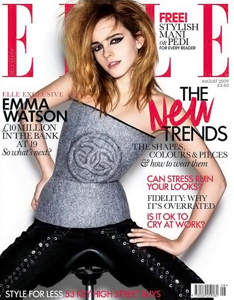 Emma Watson Elle UK August 2009 cover