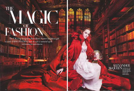 Emma Watson's Magic Harper's Bazaar October 2008
