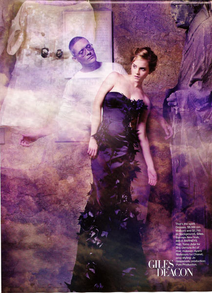 Emma Watson Harpers Bazaar October 2008 in Giles Deacon