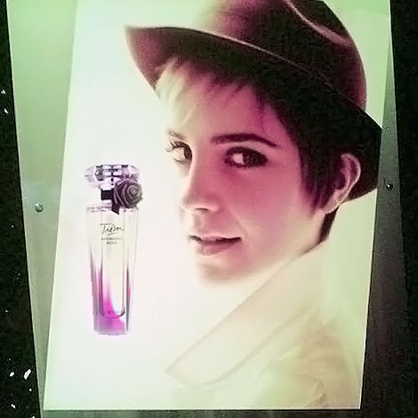 Emma Watson's Lancome Tresor Midnight Rose Ad Looks Like This