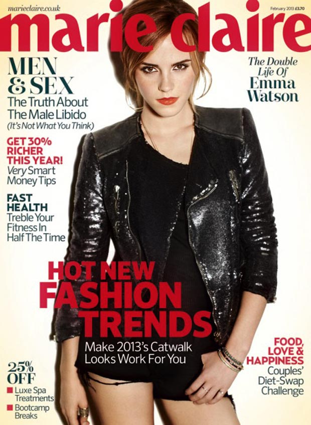Emma Watson Marie Claire UK February 2013 cover