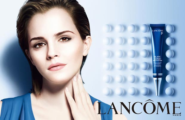 Emma Watson photoshopped beyond recognition Lancome campaign