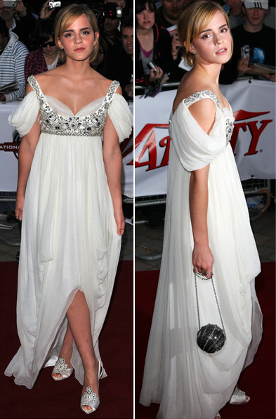 Emma Watson Red Carpet London National Movie Awards White Chanel Dress