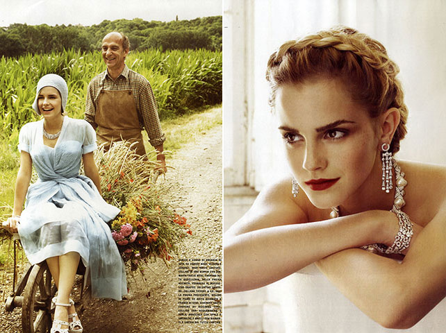 Emma Watson Vogue Italia October 08