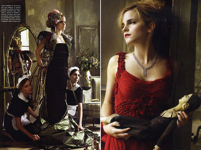 Emma Watson in Vogue Italia October 2008 photos