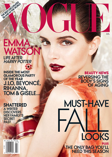 emma watson vogue july 2011 cover. Emma Watson Vogue July 2011