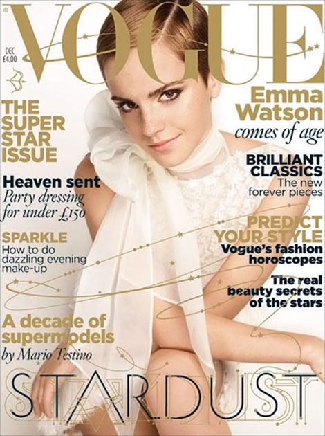 Emma Watson Vogue UK December 2010 cover