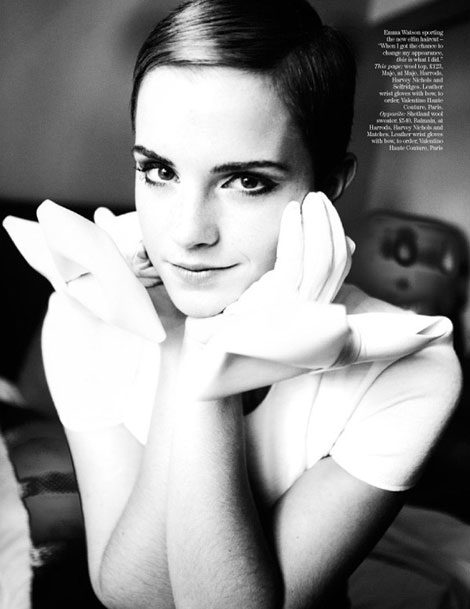 Emma Watson Vogue UK December 2010