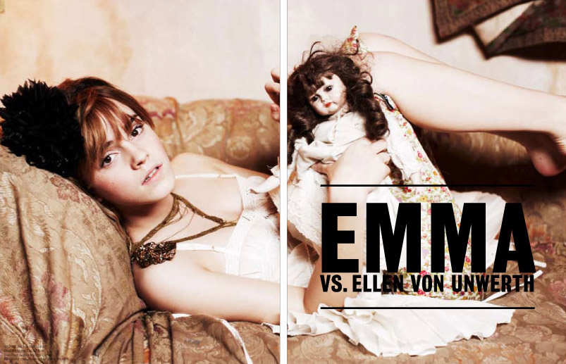 Emma Watson VS Magazine Ellen Von Unwerth photos 1