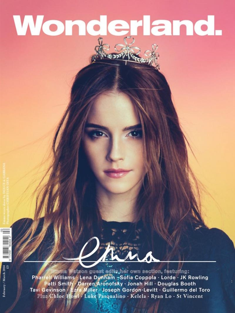 Emma Watson Wonderland magazine princess cover Spring 2014