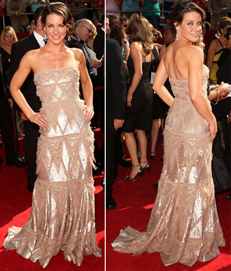 Emmy Awards 2008 – Evangeline Lilly Wearing Elie Saab Dress