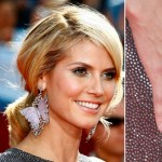 Emmy Awards 2008 Heidi Klum oval ring and butterfly earrings