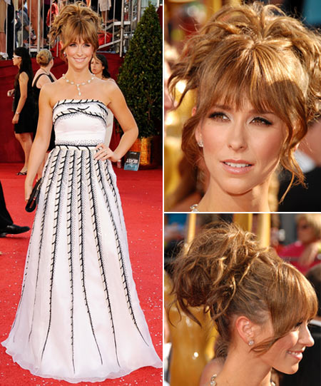 Emmy Awards 2008 Jennifer Love Hewitt Carolina Herrera dress and hairstyle