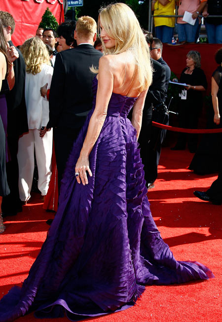 Emmy Awards 2008 Nicollette Sheridan Angel Sanchez dress back view