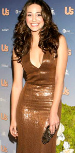 Emy Rossum Liquid Metallic Dress