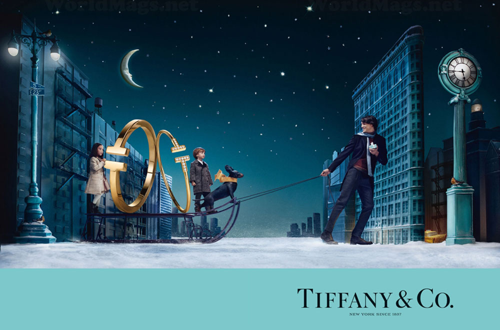enchanted Christmas ad campaign Tiffany 2014