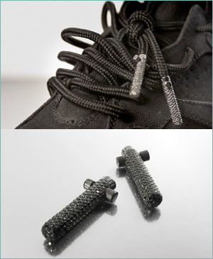 Ends Diamonds Encrusted Capsules for Shoelaces