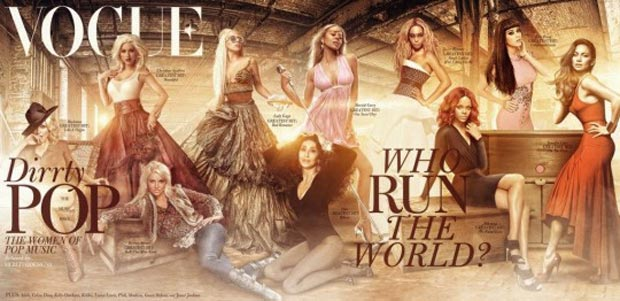 Fake Vogue Pop Cover: Today&#8217;s Pop Music Queens Epic Assembly
