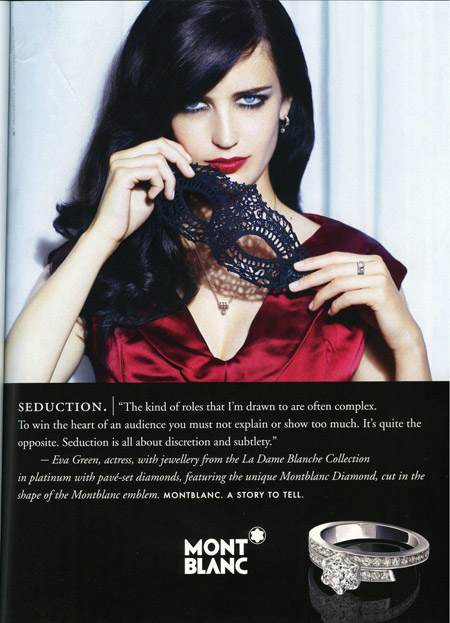 Eva Green's Montblanc Ad Campaign