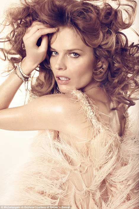 Eva Herzigova Harper s Bazaar UK April 2011