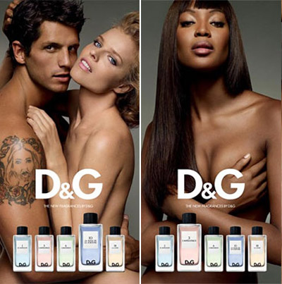 Claudia, Eva, Naomi D & G Fragrance Anthology Ad Campaign