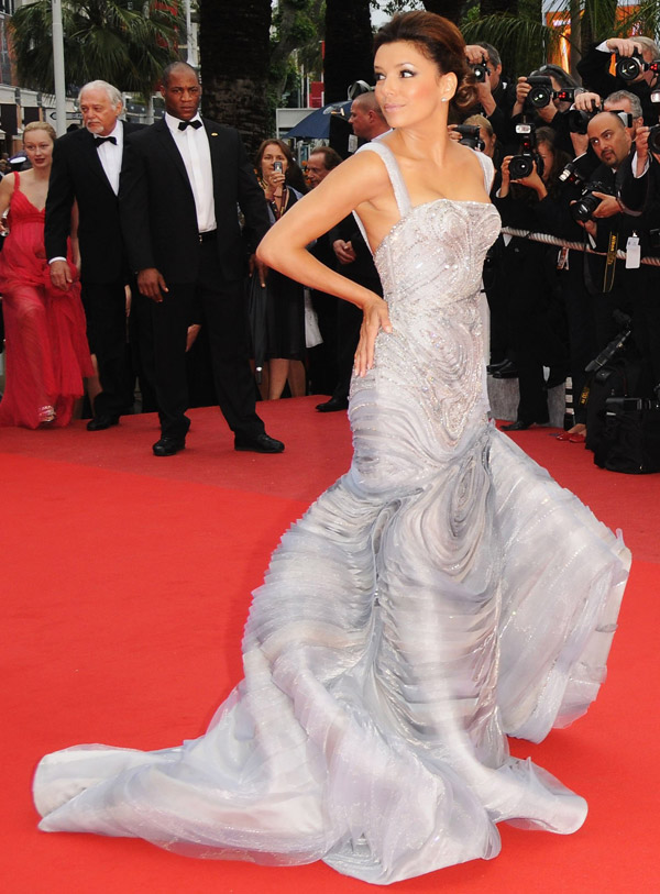 Eva Longoria Atelier Versace dress Cannes 09