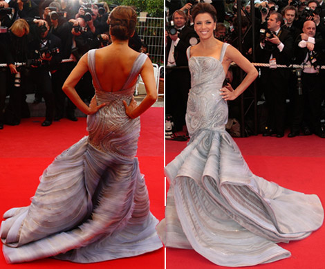 Eva Longoria Atelier Versace dress Cannes 2009