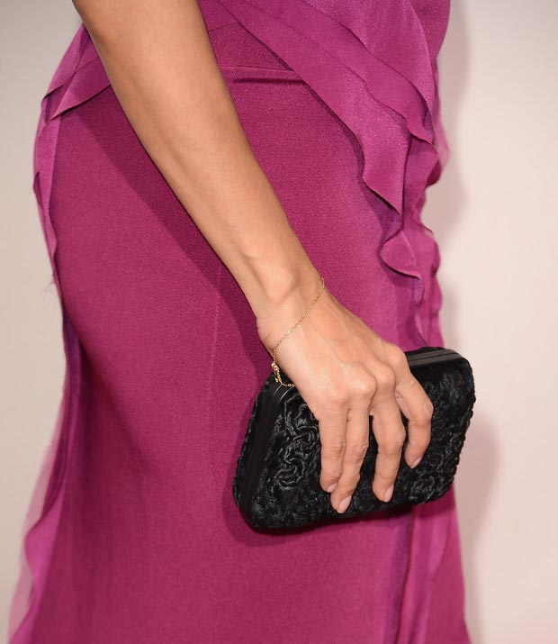 Eva Longoria Ferragamo clutch Critics Choice Awards 2013