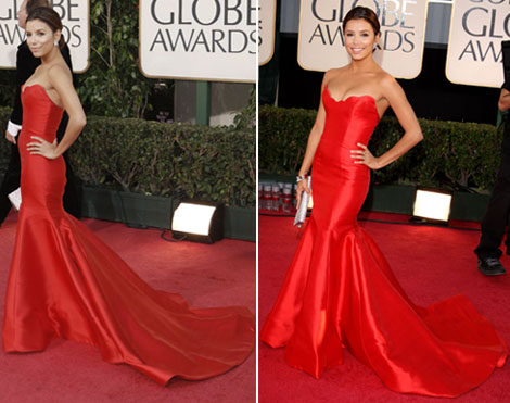 Eva Longoria Golden Globe awards 2009 Reem Acra dress