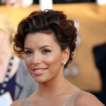 Eva Longoria Jenny Packham peach dress 2009 SAG awards portrait