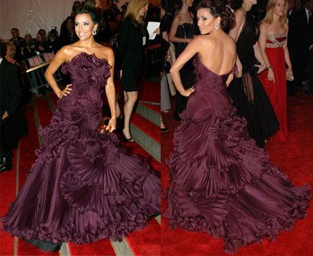 Eva Longoria in Marchesa At the Met Gala
