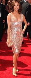 Eva Longoria metallic Dress
