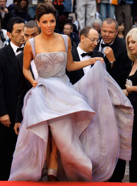 Eva Longoria Versace dress Cannes 2009