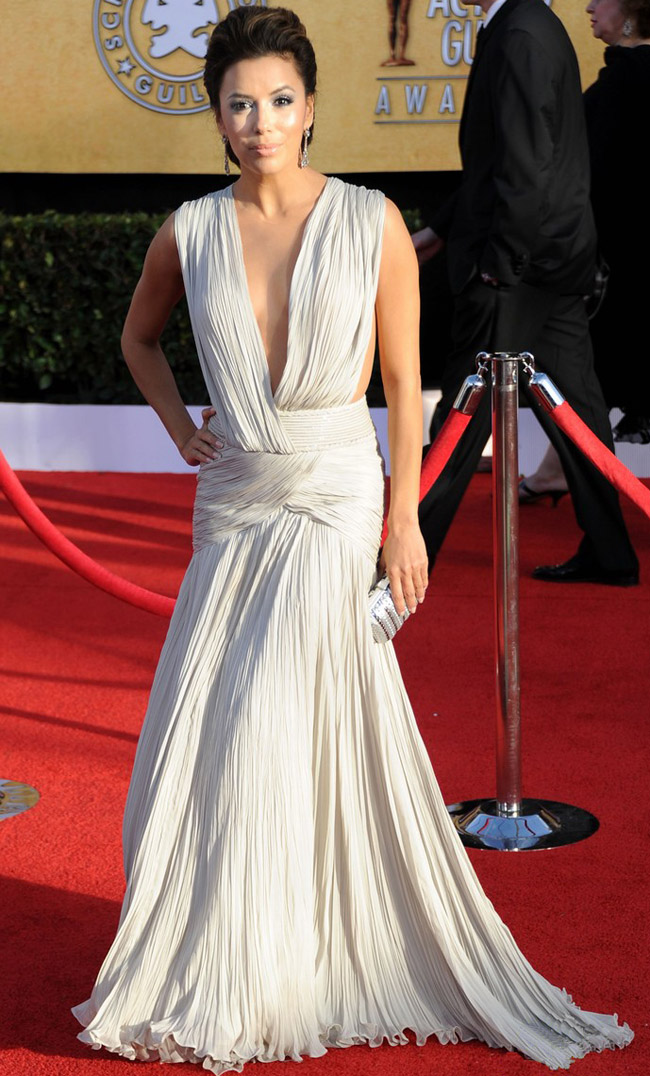 Eva Longoria white Georges Hobeika dress 2011 SAG Awards 2