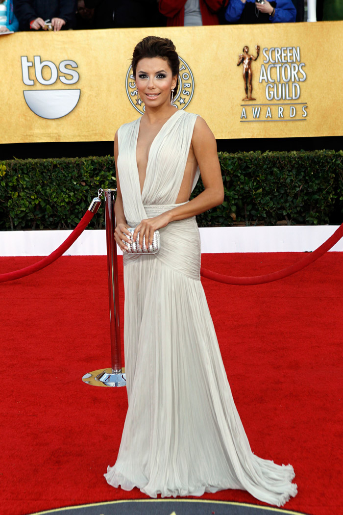 Eva Longoria white Georges Hobeika dress 2011 SAG Awards 3